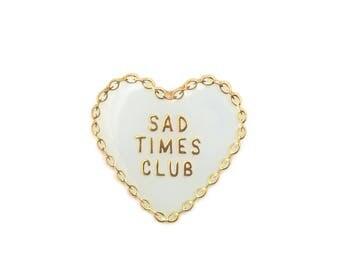 SadTimesClub - White Logo Pin