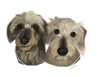 Double Pet Portrait - Custom