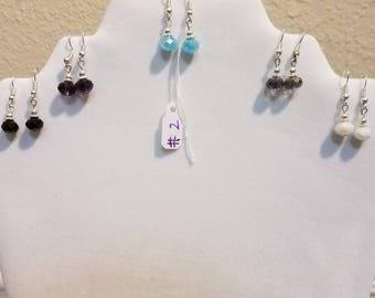 5 Piece crystal earring set