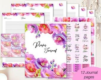 Prayer Journal printable/ Christian planner/ Bible journaling kit/ prayer planner/ devotional journal/ Bible journal/ floral prayer binder