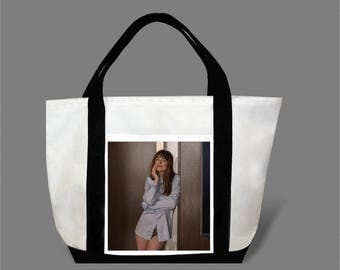 Dakota Johnson Jamie Dornan Canvas Tote Bag #0021