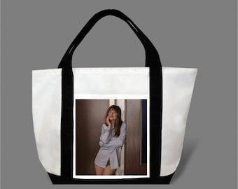 Dakota Johnson Jamie Dornan Canvas Tote Bag #0021