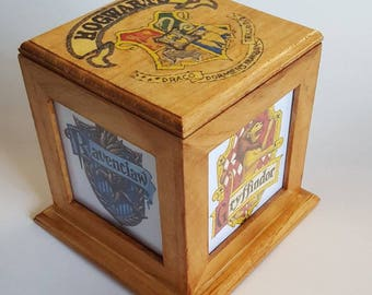 Harry Potter Light Box- While at Hogwarts your house will be like your family.  Hufflepuff, Ravenclaw, Gryffindor, and Slytherin