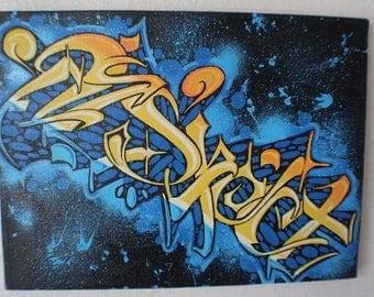 graffiti art canvas RESPECT