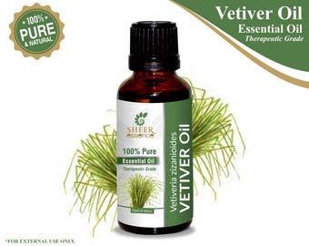 100% Pure Natural Vetiver Essential Oil - Sheer Essence - Therapeutic Grade Vetiver Oil 5ml To 500ml Free Shipping Worldwide