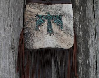Cowhide Leather Crossbody Purse
