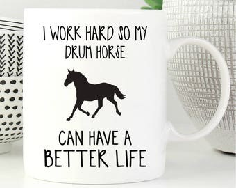 Horse Mug, Drum Horse Gift, Drum Horse Coffee Mug, Drum Horse Gifts, Coffee Mug, Drum Horse Lover Gift, Gift For Drum Horse Lover