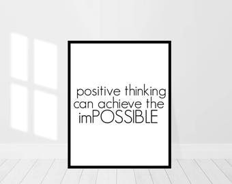 Inspirational Print - Anything Is Possible - Positive Thinking - Choose Happy - Be Positive - Goals - Digital Art Print