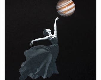 Jupiter Rising Collage Print