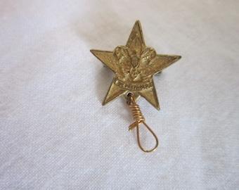 Antique Boy Scout Star Scout Rank Pin Pinback