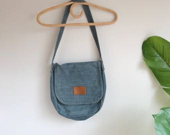 VIntage Orange Tab Levis Jean Bag/ Levis Purse / Levis Bag Messenger Bag