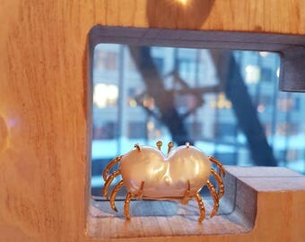 Baroque Pearl Crab Ring 20170006
