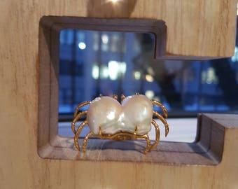 Baroque Pearl Crab Ring 20170010