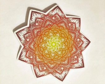 Mandala sun sticker