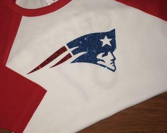 NFL Girl Glitter Shirt *can change team/player*