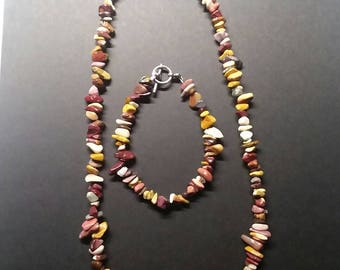 Mookaite necklace and bracelet set.