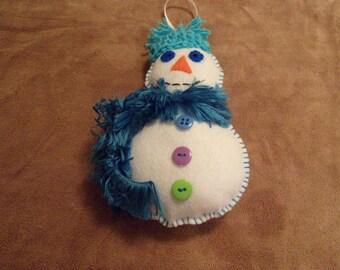Felt snowman ornament Christmas decoration