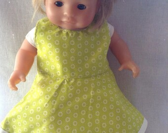 Green doll dress with white flowers