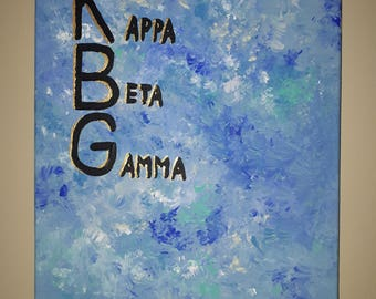 Sorority name: painted canvas