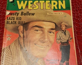 Prize Western 1940th comic book