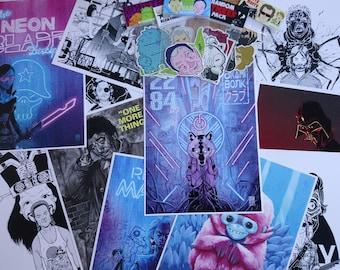 Print and sticker bundle! See description for details.