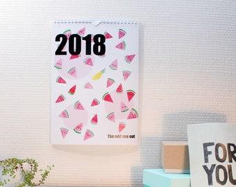 Calendar 2018 watercolour A4