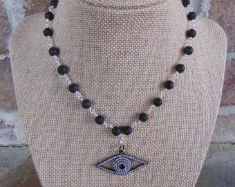 Evil Eye Beaded Necklace