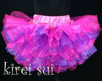 CLEARANCE BOUTIQUE Hot pink and purple Birthday Tutu Size 18m to 3t