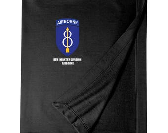8th Infantry Division (Airborne) Embroidered Blanket-4060