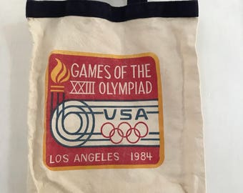 Vintage Los Angeles 1984 Olympics tote bag