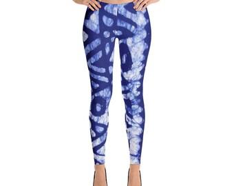 Afro Tie Dye Blue Leggings