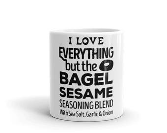 I Love Everything But The Bagel Sesame Mug