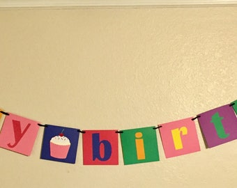 Cupcake Happy Birthday Sign