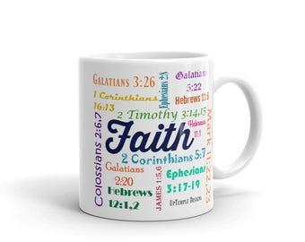 Faith Mug  with Scriptures relating to Faith