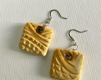 Natural Clay -  Artisan Crafted Drop and Dangle Earrings