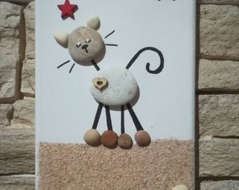 Pebbles table cat - artisanal Creation