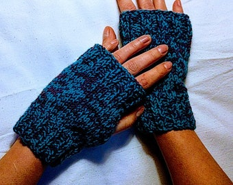 Blue and purple mittens