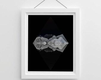 Black Mountian Diamond Print