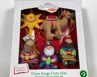 "Hallmark Christmas Storybook & Plush Ornament Set ~~""Three Kings from Afar"" ~~Keepsake Kids~~NIB"