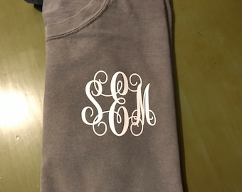 Monogrammed Comfort Colors T-Shirt