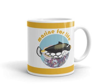 Aquarium Fish Lover Mug - Marine Aquarium Owner Mug - Marine for Life - Coffee Drink Mug