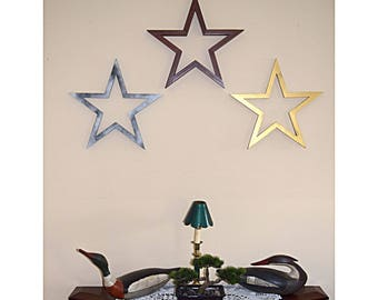 5 pointed star wall ornament