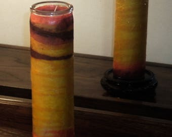 Faux Stained Glass Candle