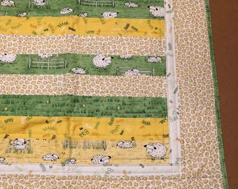 Counting Sheep Handmade Baby Quilt