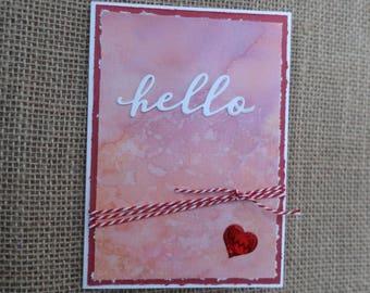 Handmade Card, Hello, Love, Valentine