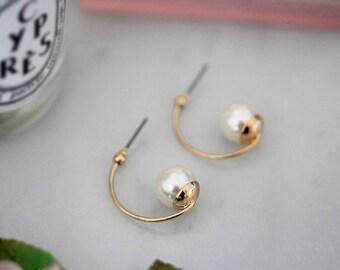 Antique style pearl earrings