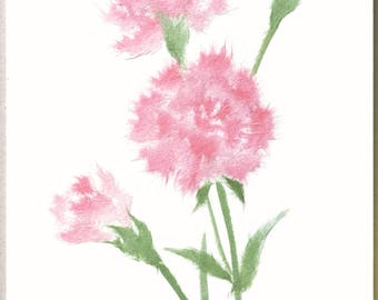 "Chigiri-e Japanese Washi Paper Collage DIY Art Kit ""Carnation"""