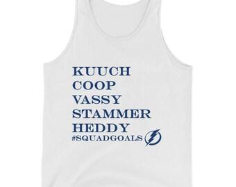Kucherov, Cooper, Vasilevsky, Stamkos, Hedman Tampa Bay Lightning Hockey Mens  Tank Top