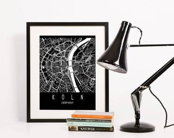 Cologne, Germany City Street Map Print | Wall Art Poster | Wall decor | 8*10