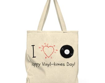 Happy VinylTimes Day Roomy Tote Bag